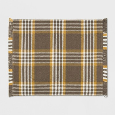 Plaid Placemat Brown/Yellow - Threshold™