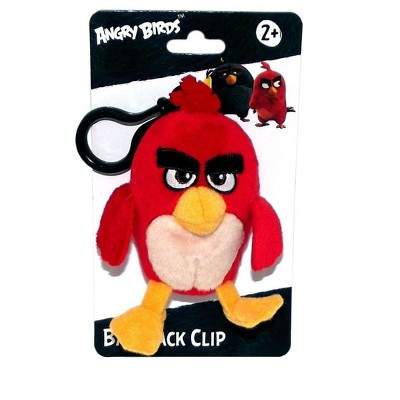 """License 2 Play Inc Angry Birds Movie 4.5"""" Plush Clip On: Red"""