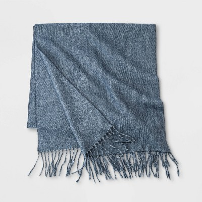 Men's Brushed Woven Scarf - Goodfellow & Co™ Navy Base One Size