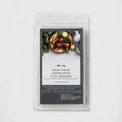 12ct 3-Fragrance Set Holiday Scented Wax Melts - Threshold™