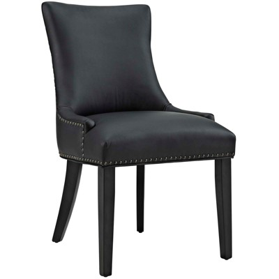Marquis Faux Leather Dining Chair Black - Modway