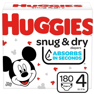 Huggies Snug & Dry Baby Disposable Diapers – (Select Size and Count)