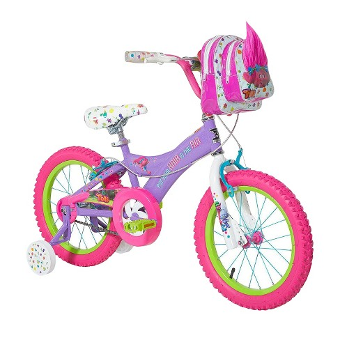 "Trolls 16"" Kids' Bike with Training Wheels - Purple/Pink - image 1 of 5"