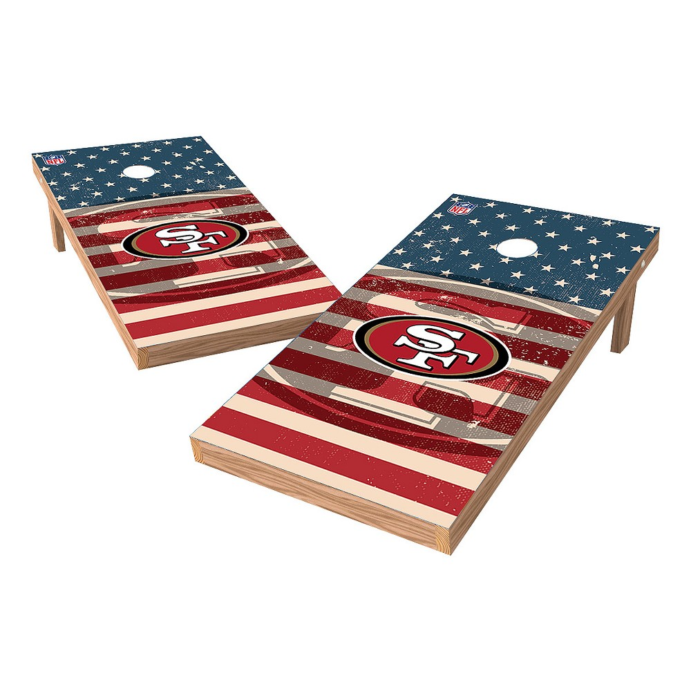 NFL San Francisco 49ers Wild Sports 2x4 Tailgate Toss Cornhole Shield - Stars and Stripes