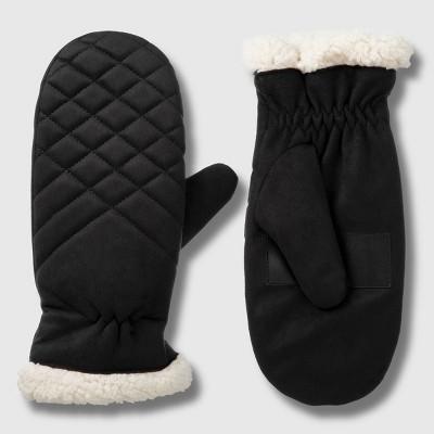 Isotoner Women's smartDRI Recycled Mittens - Black