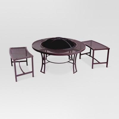 Teton 36  Steel Wood Burning Fire Table - Round - Threshold™