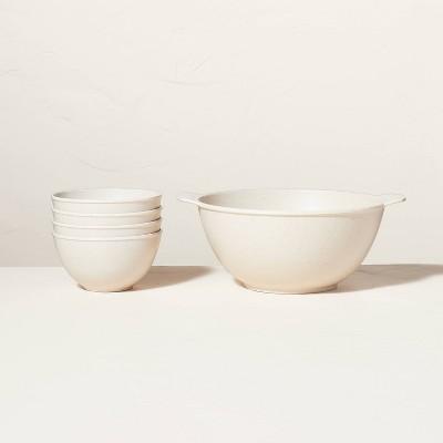 5pc Bamboo Melamine Popcorn Bowl Set Natural - Hearth & Hand™ with Magnolia