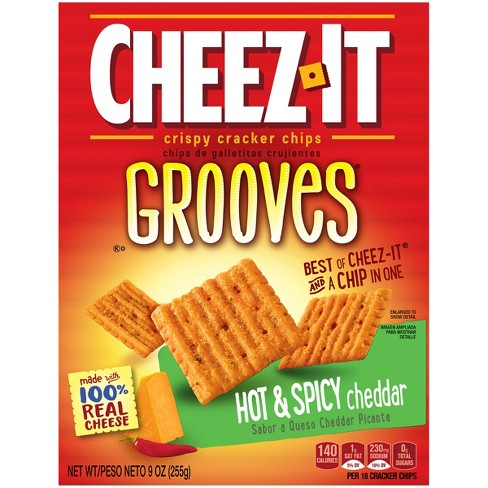 Cheez-It Grooves Hot and Spicy Cheddar Cracker Chip - 9oz - image 1 of 8