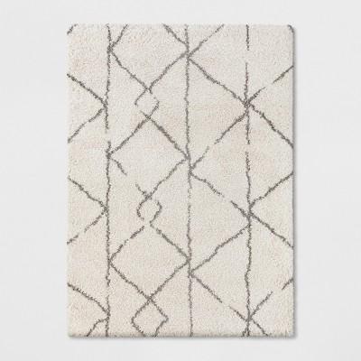 5'X7' Geometric Design Woven Area Rugs Cream - Project 62™