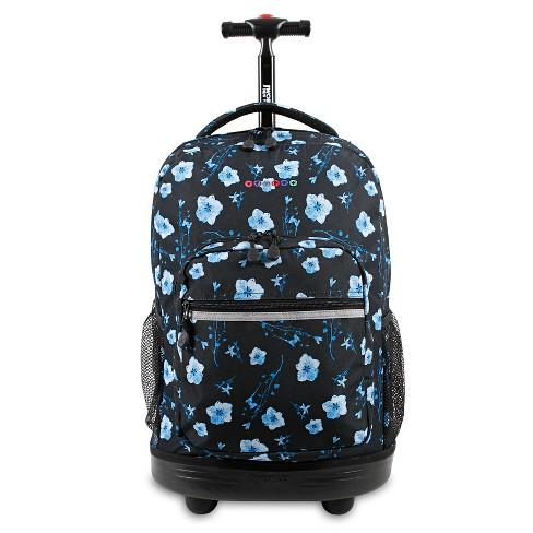 "J World 18"" Sunrise Rolling Backpack - Night Bloom - image 1 of 4"