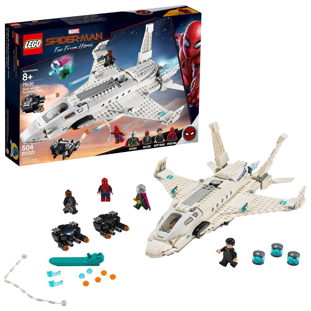 LEGO Super Heroes Marvel Spider-Man Stark Jet and the Drone Attack 76130