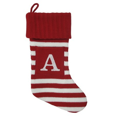 Knit Striped Monogram Christmas Stocking A - Wondershop™