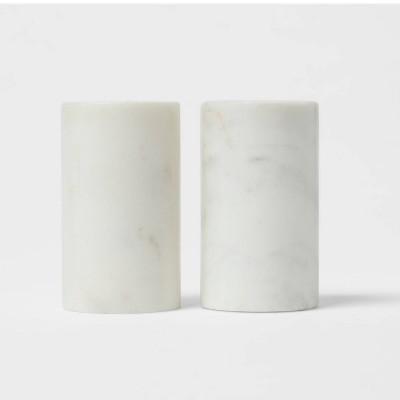 2pc Marble Salt and Pepper Shaker Set - Threshold™