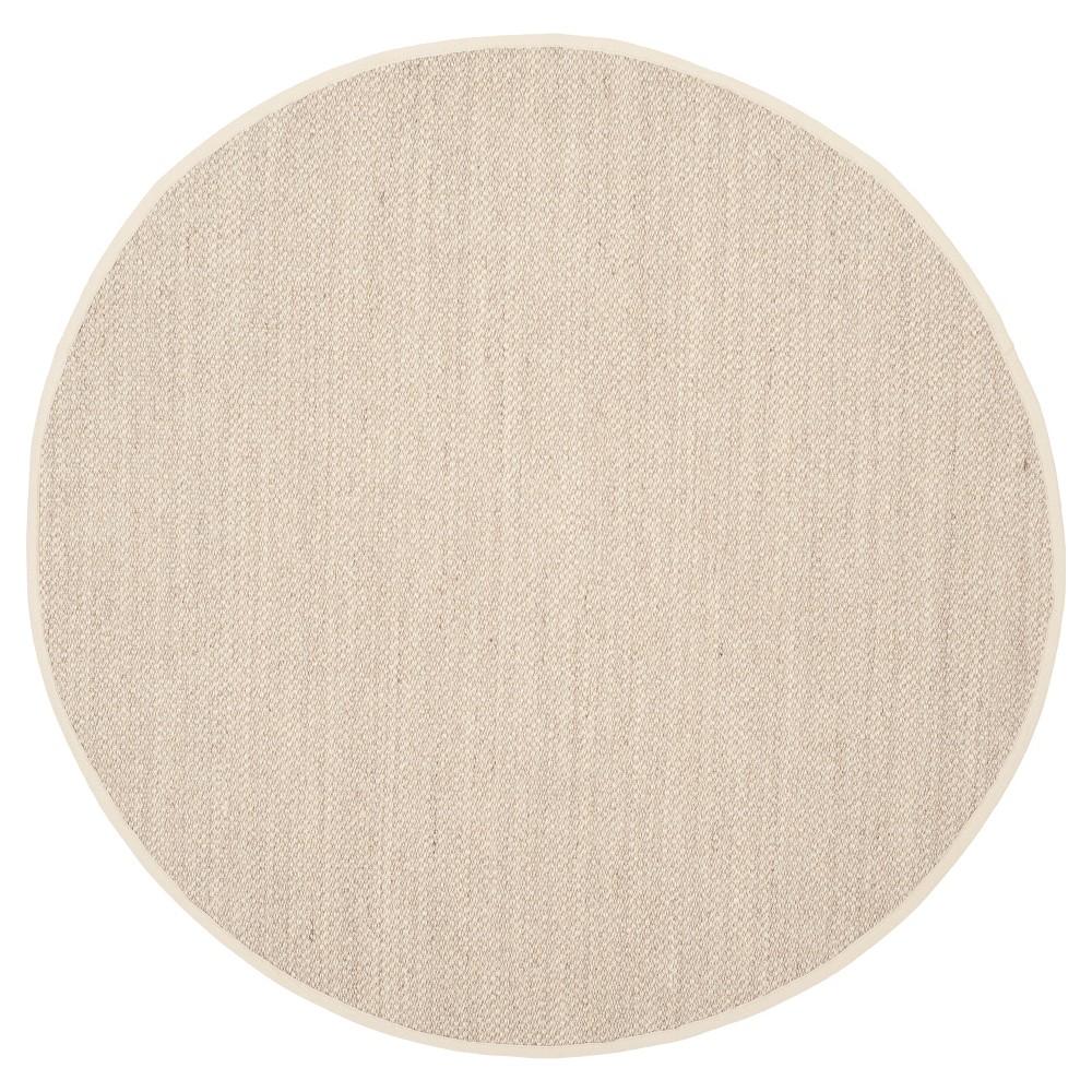 Natural Fiber Rug - Marble/Beige - (6'x6' Round) - Safavieh