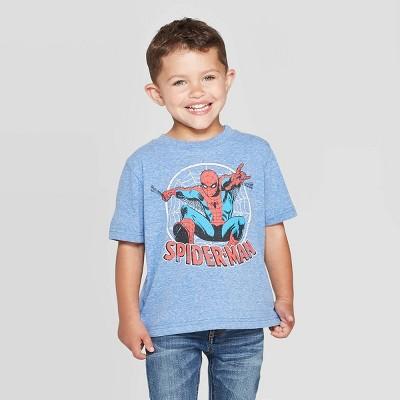 Toddler Boys' Disney Spider-Man Short Sleeve T-Shirt - Heather Blue
