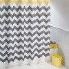 Chevron Shower Curtain Polyester - iDESIGN - image 3 of 4