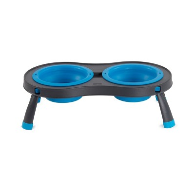 Dexas Double Elevated Feed 2.5 Cup - Blue