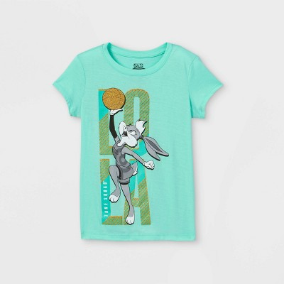 Girls' Looney Tunes Lola Bunny Short Sleeve Graphic T-Shirt - Green