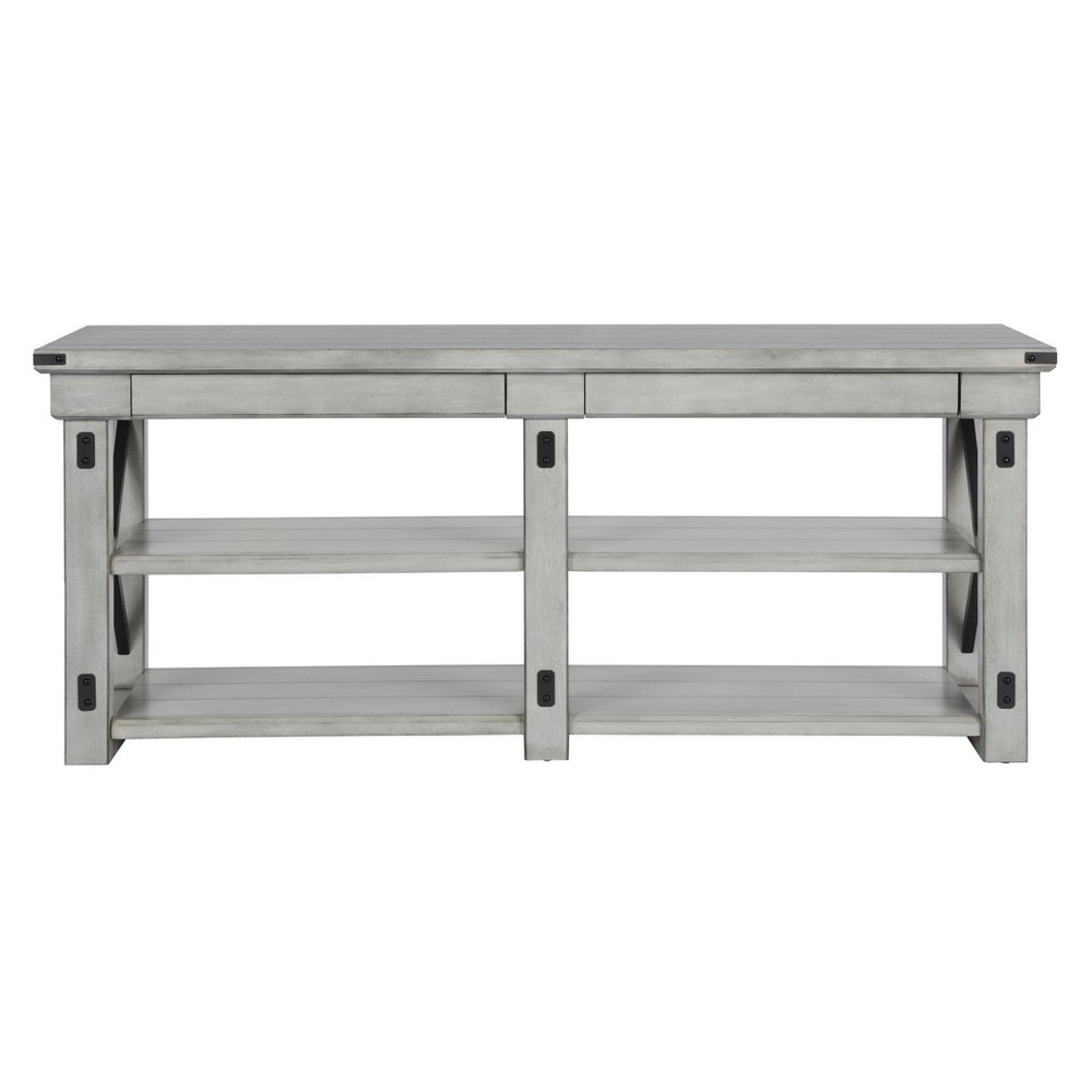 Hathaway Tv Stand For Tvs Up To 65 Wide - Rustic White - Room & Joy