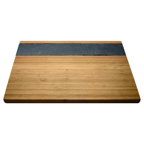 Epicureanist Bamboo & Slate Cheese Serving Tray - image 1 of 5