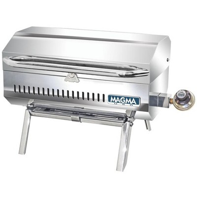 Magma Connoisseur Series ChefsMate Stainless Steel Portable Propane Gas Grill with Inner Lined Safety Shell and Fold Away Legs