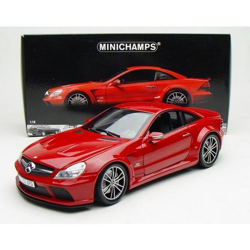 2009 Mercedes SL65 AMG Black Series (R230) Red 1/18 Diecast Model Car by Minichamps - image 1 of 3