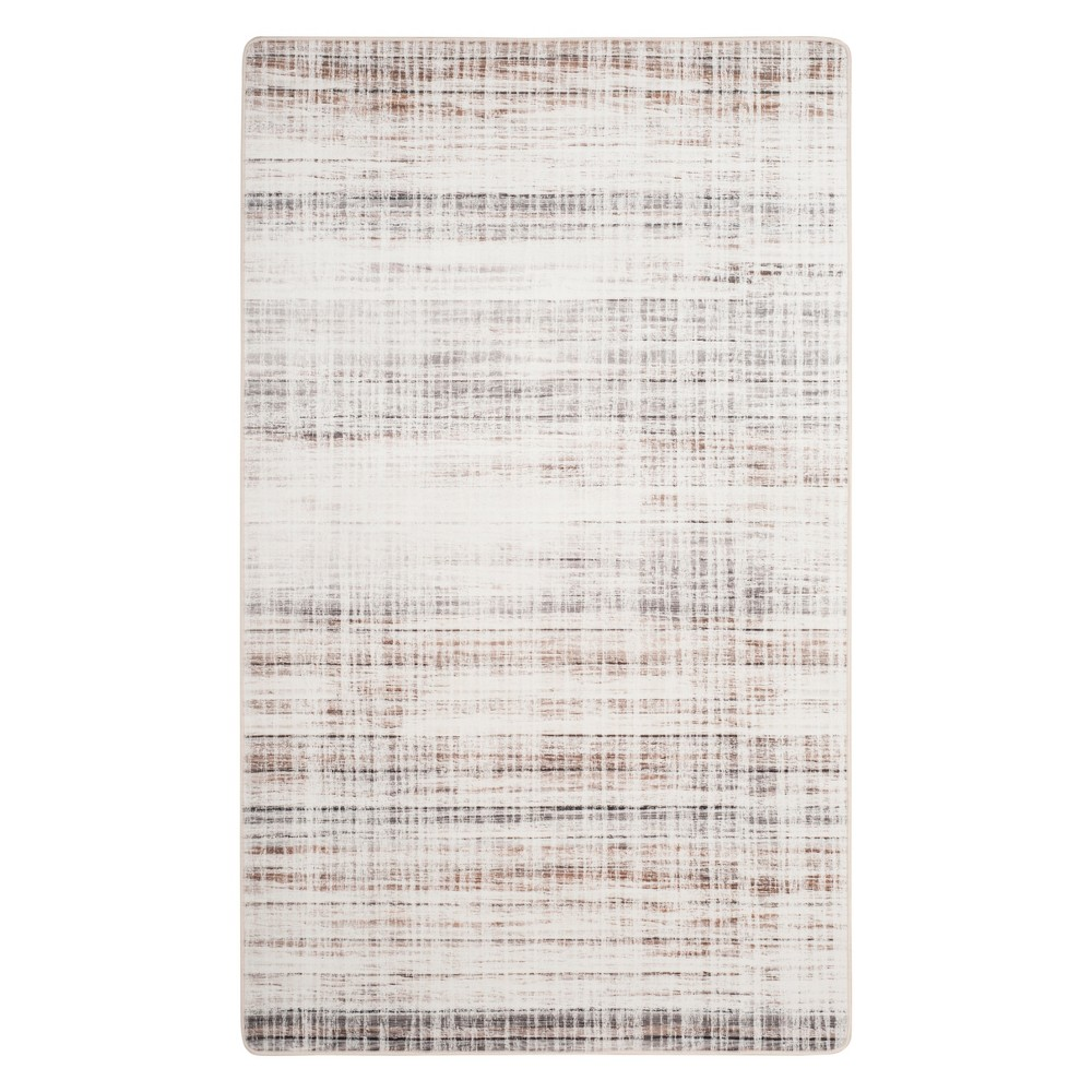 3 X5 Crosshatch Loomed Accent Rug Ivory Gray Safavieh