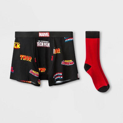 Men's Marvel Boxer Briefs - Black