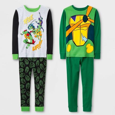 Boys' Teenage Mutant Ninja Turtles 4pc Pajama Set - Green - image 1 of 1