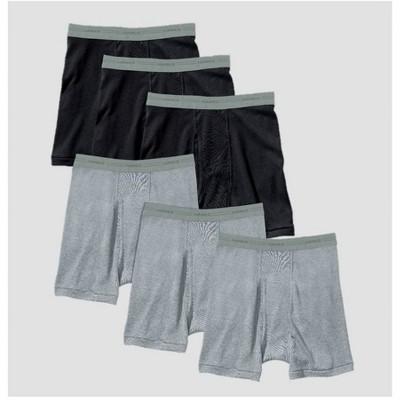 Hanes Men's Red Label Boxer Briefs - Black/Gray XL