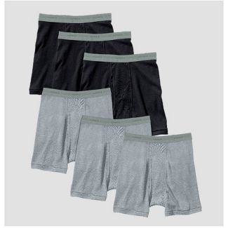 Hanes Men's Red Label Boxer Briefs - Black/Gray M