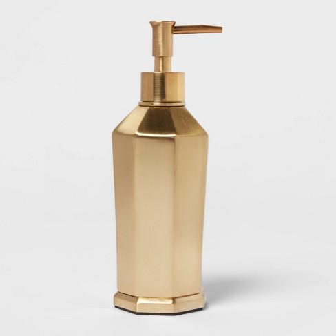 Solid Soap Pump Faceted Gold - Threshold™ - image 1 of 4