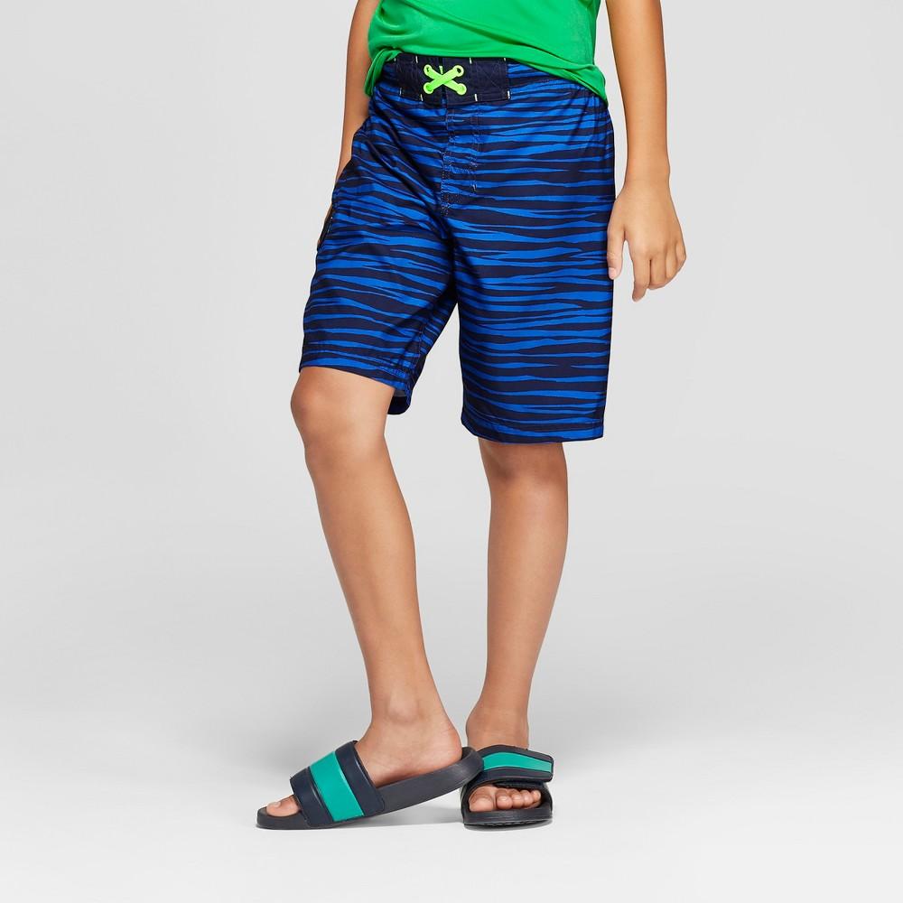 Boys' Trench Stripe Trunks - Cat & Jack Blue XL