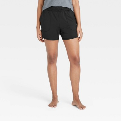 "Women's Mid-Rise Knit Shorts 5"" - All in Motion™"