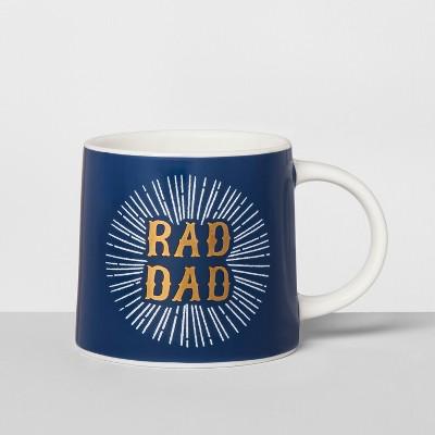 Porcelain Rad Dad Mug 16oz Blue/White - Threshold™