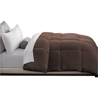 Microfiber Down Alternative Comforter (King)Chocolate