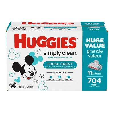 Huggies Simply Clean Baby Wipes Flip Top Refill - 704ct