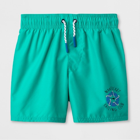 Toddler Boys' Swim Trunks - Cat & Jack™ Turquoise 3T - image 1 of 1