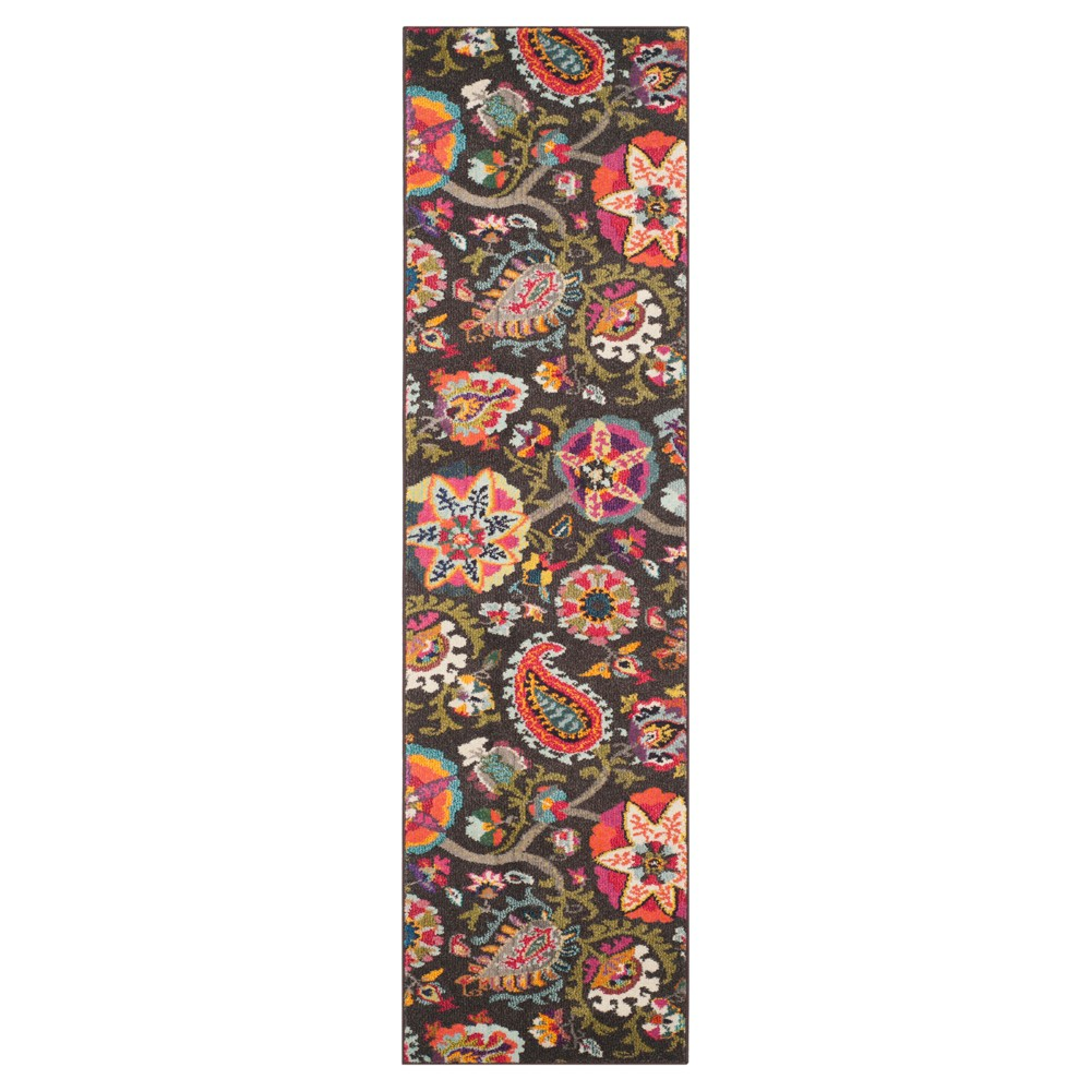 Jasmine Area Rug - Brown / Multi (2'X8') - Safavieh, Brown/Multi-Colored/Pink