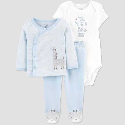 Baby Boys' Cardigan Layette Set - Just One You® made by carter's Blue 6M
