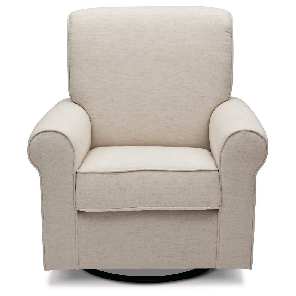 Image of Delta Children Avery Nursery Glider Swivel Rocker Chair - Sand, Brown