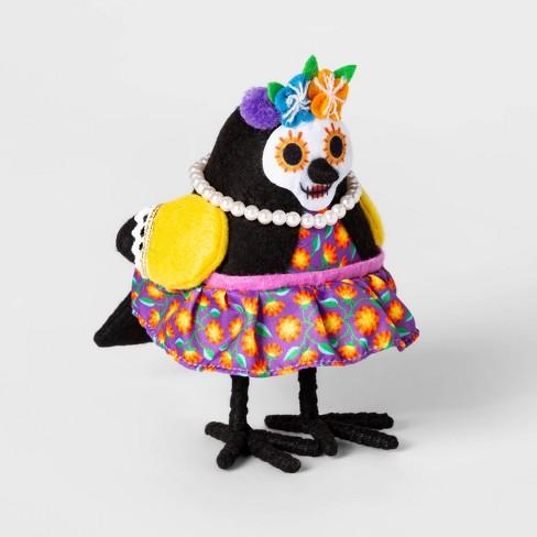 Da de Muertos Flower Crown Fabric Bird Decorative Figure - image 1 of 1