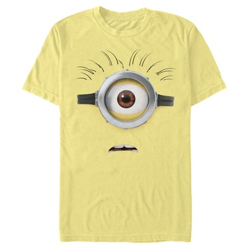 Men's Despicable Me Minions Shocked Face Minion Carl Big Face T-Shirt - image 1 of 1
