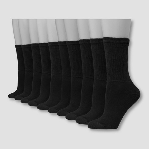 Hanes Women's Extended Size Cushioned 10pk Crew Socks 8-12 - image 1 of 2