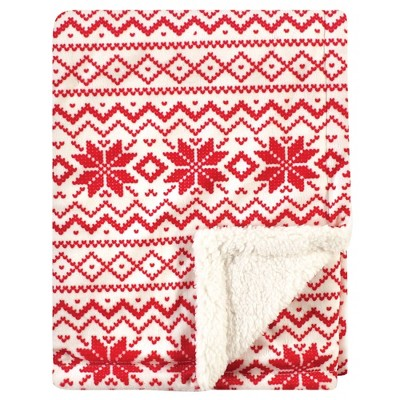 Hudson Baby Unisex Baby Plush Blanket with Sherpa Back