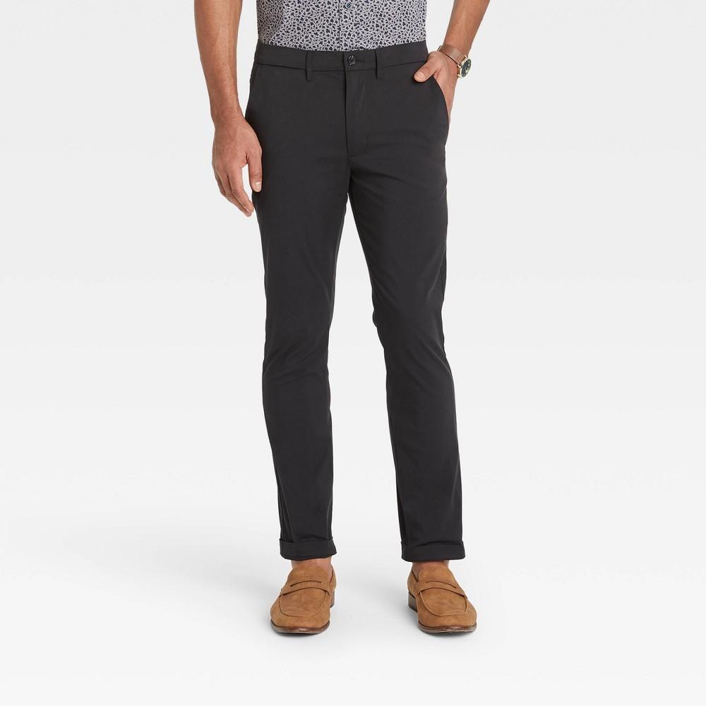 Men 39 S Skinny Fit Hennepin Tech Chino Pants Goodfellow 38 Co 8482 Black 30x30