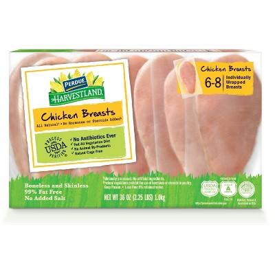 Perdue Harvestland Boneless Skinless Chicken Breasts - Frozen - 2.25lbs