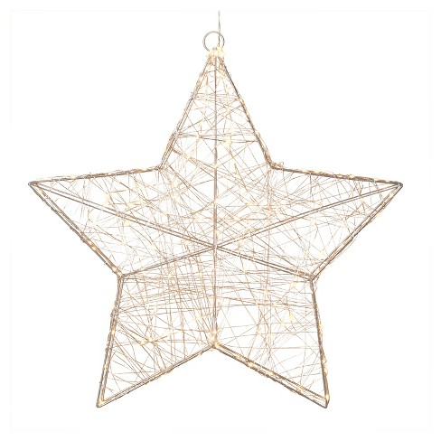 "23"" LED Lighted Star Silver - image 1 of 1"