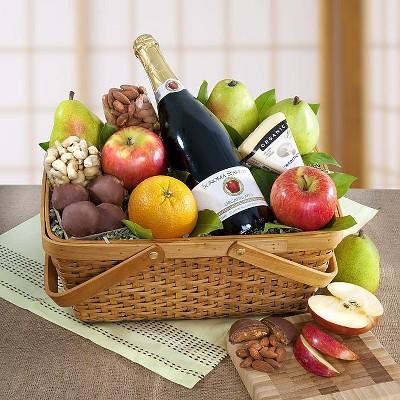 1-800-Baskets Distinctive Organic Fruit & Cheese Gift Basket