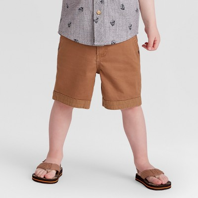 Toddler Boys' Genuine® Kids from OshKosh Chino Shorts - Brown 12M
